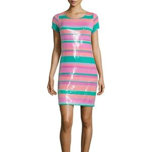 Laundry by Shelli Segal Sequin Striped Dress